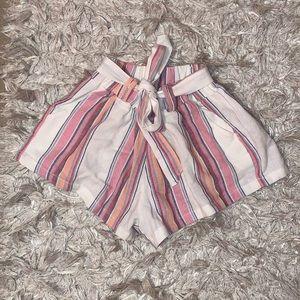 NWT Paper-bag waisted shorts SMALL